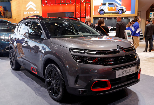 The Citroen C5 Aircross car is on display at the Auto show in Paris, France, Tuesday, October 2, 2018, 2018. (Photo by Regis Duvignau/Reuters)