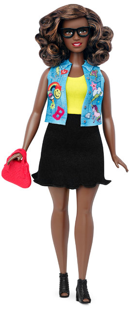 This photo provided by Mattel shows a new, curvy Barbie Fashionista doll introduced in January 2016. (Photo by Mattel via AP Photo)