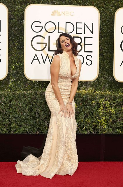 Actress Amy Landecker arrives at the 74th Annual Golden Globe Awards in Beverly Hills, California, U.S., January 8, 2017. (Photo by Mike Blake/Reuters)