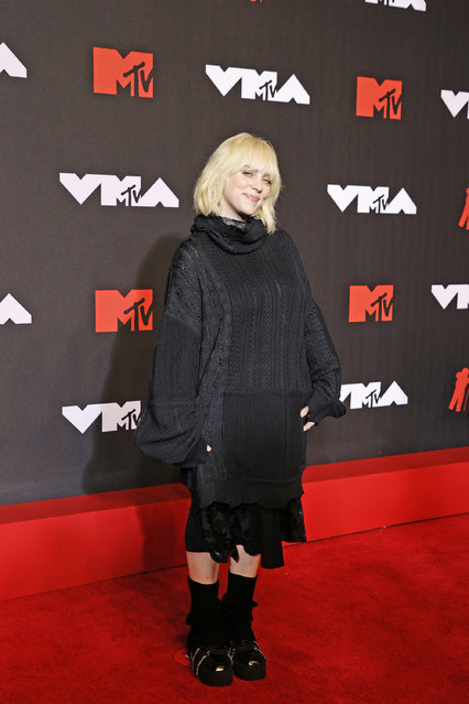 American singer and songwriter Billie Eilish attends the 2021 MTV Video Music Awards at Barclays Center on September 12, 2021 in the Brooklyn borough of New York City. (Photo by Jamie McCarthy/Getty Images for MTV/ViacomCBS)