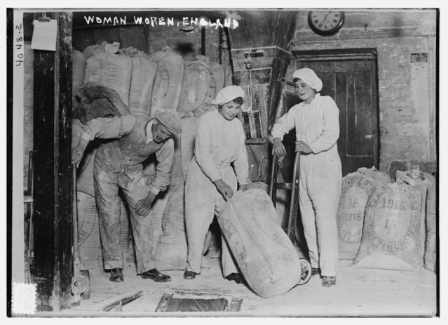 Women work in a flour mill in England during World War I, circa 1915-1918, in this Library of Congress handout photo. For women 100 years ago, opportunities to work beyond the home and take part in political life were very limited. As the 20th century progressed, hard-won progress included gradually improved voting rights, while the upheaval of war pushed doors ajar as women worked as part of the war effort. (Photo by Reuters/Bain Collection/Library of Congress)