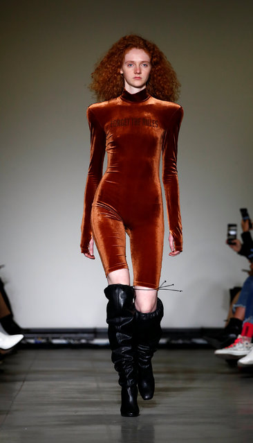 A model presents a creation during the Annakiki show at Milan Fashion Week in Milan, Italy February 20, 2019. (Photo by Alessandro Garofalo/Reuters)