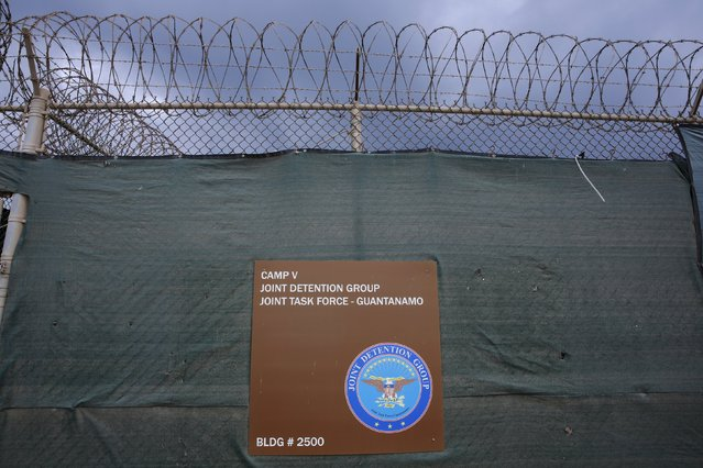 A sign identifies Joint Task Force Guantanamo's Camp V at the U.S. Naval Base in Guantanamo Bay, Cuba March 22, 2016. (Photo by Lucas Jackson/Reuters)