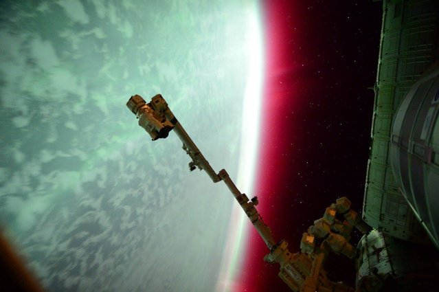 NASA Astronaut Scott Kelly captured an aurora from the International Space Station in this NASA handout photo taken on June 23, 2015. (Photo by Reuters/NASA)