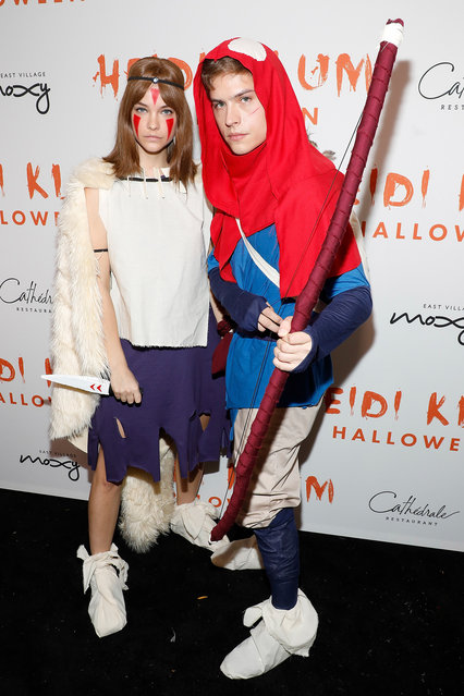 Barbara Palvin and Dylan Sprouse attend Heidi Klum's Annual Hallowe'en Party at Cathedrale on October 31, 2019 in New York City. (Photo by Taylor Hill/Getty Images)