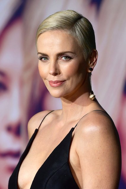 """Charlize Theron, 44, attends a Special Screening of Liongate's """"Bombshell"""" at Regency Village Theatre on December 10, 2019 in Westwood, California. (Photo by Matt Winkelmeyer/Getty Images)"""