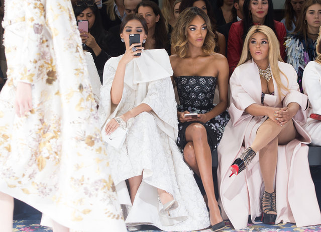 Sonam Kapoor, Jourdan Dunn and Lil' Kim attend the Ralph & Russo Haute Couture Fall/Winter 2016-2017 show as part of Paris Fashion Week on July 4, 2016 in Paris, France. (Photo by Samir Hussein/WireImage)