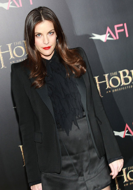 """Actress Liv Tyler attends """"The Hobbit: An Unexpected Journey"""" premiere at the Ziegfeld Theater on December 6, 2012 in New York City. (Photo by Jim Spellman/WireImage)"""