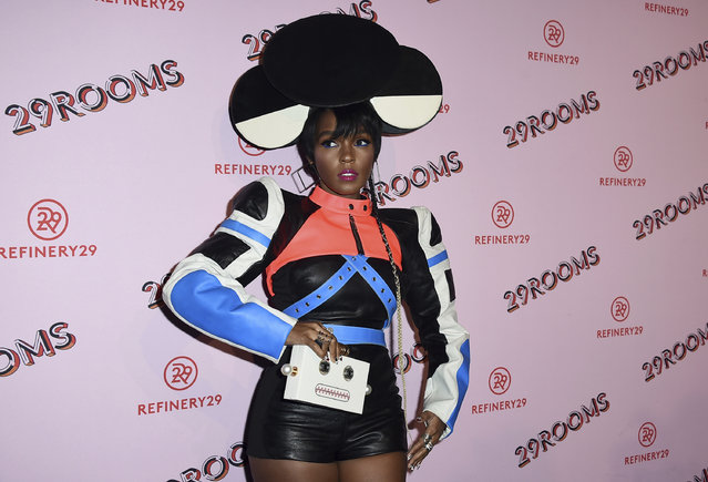 Janelle Monae arrives at the West Coast debut of 29rooms at ROW DTLA on Wednesday, December 6, 2017, in Los Angeles. (Photo by Jordan Strauss/Invision/AP Photo)