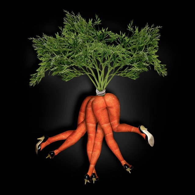 """Dancing Bunch of Carrots"". (John Wilhelm)"