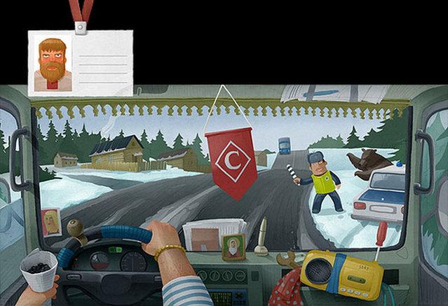 Truck Drivers Around The World Andrey Gordeev Imagination