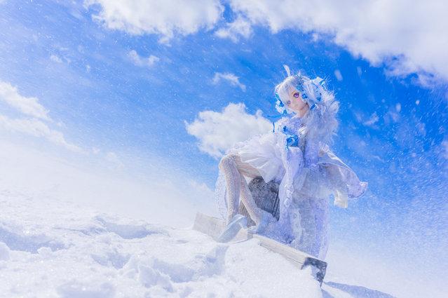 """Snowstorm"". Location: Utsukushigahara Highlands. (AZURE)"