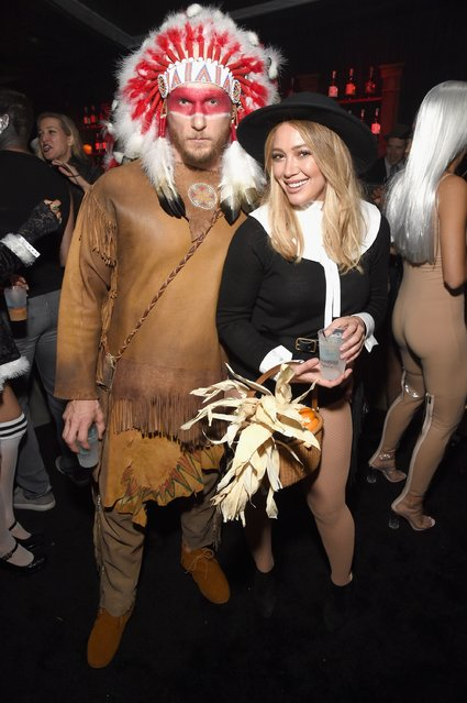 Hilary Duff (R) and Jason Walsh attend the Casamigos Halloween Party at a private residence on October 28, 2016 in Beverly Hills, California. (Photo by Michael Kovac/Getty Images for Casamigos Tequila)
