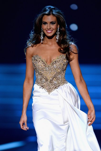 Miss Connecticut USA Erin Brady competes in the eventing gown portion during the 2013 Miss USA pageant at PH Live at Planet Hollywood Resort & Casino on June 16, 2013 in Las Vegas, Nevada.  (Photo by Ethan Miller)