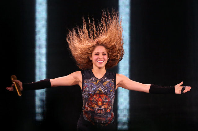 "Shakira performs live on stage during the ""El Dorado World Tour"" at The O2 Arena on June 11, 2018 in London, England. (Photo by Simone Joyner/Getty Images)"