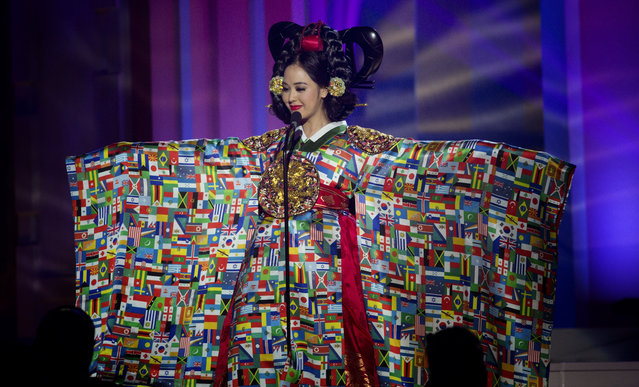 Miss Korea, Yebin-Yoo, poses for the judges, during the national costume show during the 63rd annual Miss Universe Competition in Miami, Fla., Wednesday, January 21, 2015. (Photo by J. Pat Carter/AP Photo)
