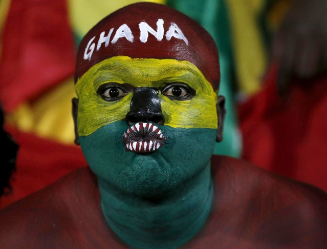 Ghana fans await the start of their team's Group C soccer match against South Africa at the 2015 African Cup of Nations in Mongomo, January 27, 2015. (Photo by Mike Hutchings/Reuters)