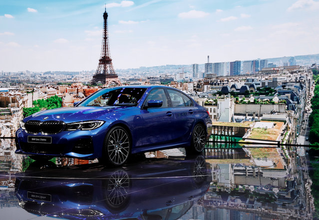 The new BMW 3 Series is on display at the Auto show in Paris, France, Tuesday, October 2, 2018, 2018. (Photo by Benoit Tessier/Reuters)
