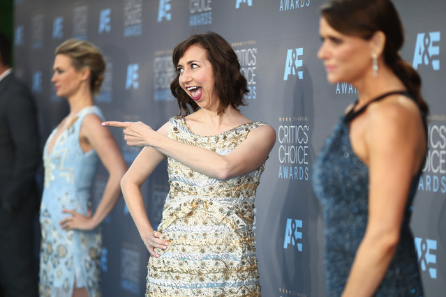 Actress Kristen Schaal attends the 21st Annual Critics' Choice Awards at Barker Hangar on January 17, 2016 in Santa Monica, California. (Photo by Christopher Polk/Getty Images for The Critics' Choice Awards)