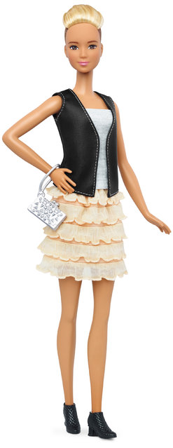This photo provided by Mattel shows a new, tall Barbie Fashionista doll introduced in January 2016. (Photo by Mattel via AP Photo)