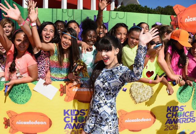 Actress/singer Elizabeth Elias attends Nickelodeon's 28th Annual Kids' Choice Awards held at The Forum on March 28, 2015 in Inglewood, California. (Photo by Frazer Harrison/Getty Images)