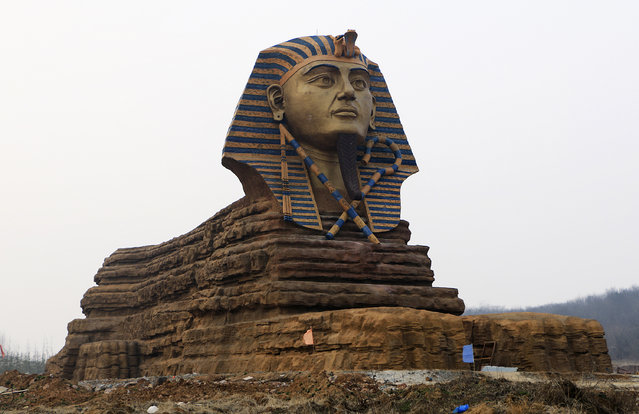 A full scale replica of the sphinx, which is part of an unfinished movie and animation tourism theme park, is pictured in Chuzhou, Anhui province, March 3, 2015. (Photo by Reuters/Stringer)
