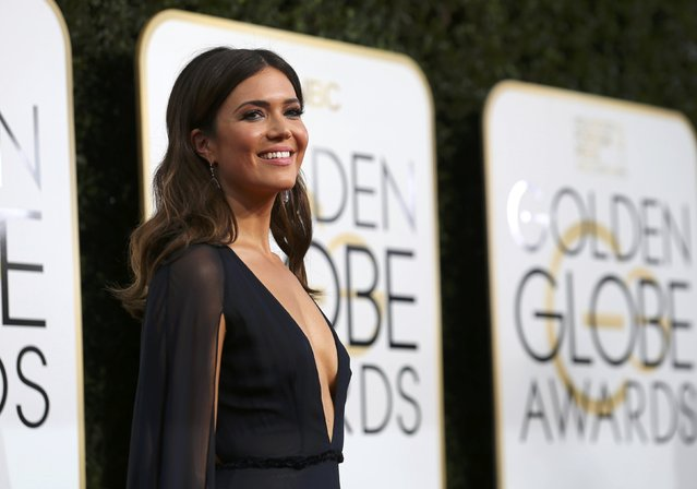 Actress Mandy Moore arrives at the 74th Annual Golden Globe Awards in Beverly Hills, California, U.S., January 8, 2017. (Photo by Mike Blake/Reuters)