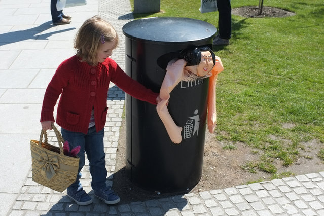 """Little girl and park bin"". (Photo by Paul Cruickshank)"