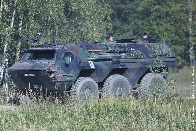 A Fuchs armoured personnel carrier of the German Bundeswehr
