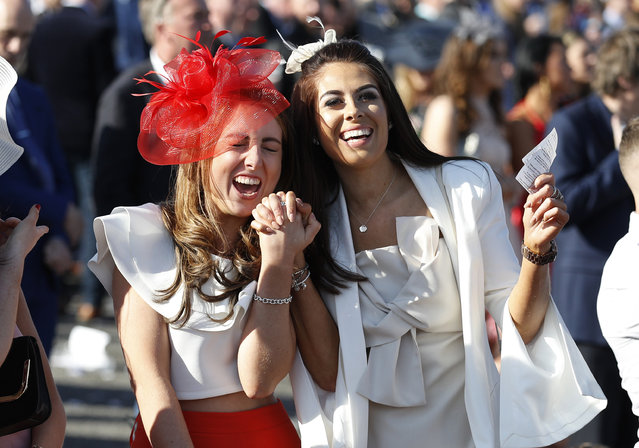 Racegoers during the Grand National Festival at Aintree Racecourse on April 7, 2017 in Liverpool, England. (Photo by Phil Noble/Reuters/Livepic)