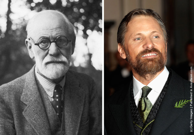 1935: Sigmund Freud (1856 - 1939) the neurologist and founder of psychoanalysis poses around 1935; Actor Viggo Mortensen arrives at the Orange British Academy Film Awards at the Royal Opera House on February 10, 2008 in London, England