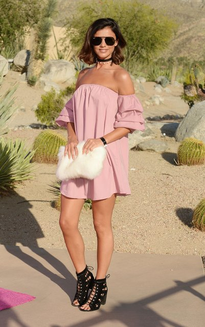 Lucy Mecklenburgh attends a party for PrettyLittleThing x Paper Magazine, Coachella Valley Music and Arts Festival, USA on April 14, 2017. (Photo by Broadimage/Rex Features/Shutterstock)
