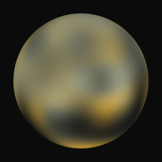 The most detailed view to date of the entire surface of the dwarf planet Pluto as constructed from multiple NASA Hubble Space Telescope photographs taken from 2002 to 2003 and released on February 4, 2010. (Photo by Reuters//NASA, ESA, and M. Buie (Southwest Research Institute))