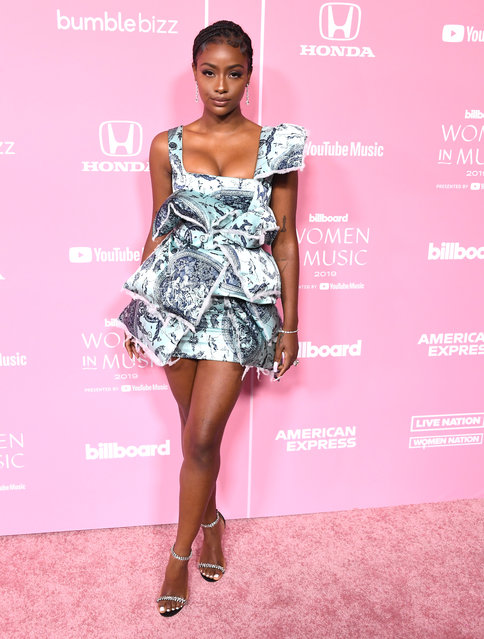 Justine Skye arrives at the 2019 Billboard Women In Music  at Hollywood Palladium on December 12, 2019 in Los Angeles, California. (Photo by Steve Granitz/WireImage)
