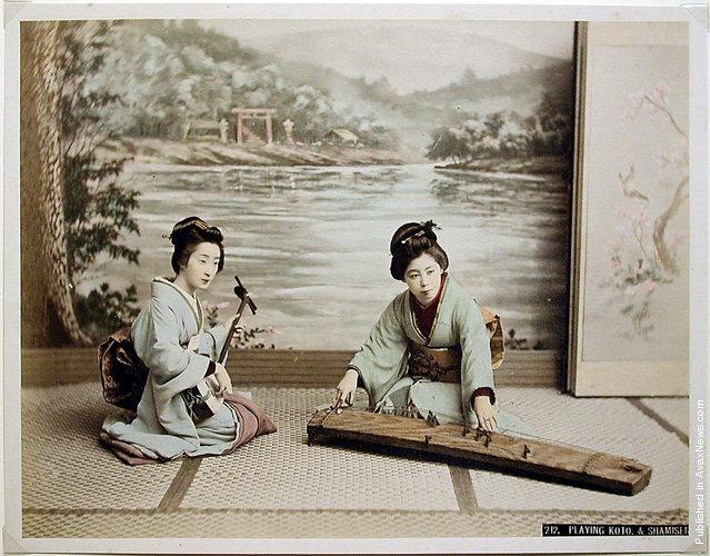 Playing Koto and Shamisen