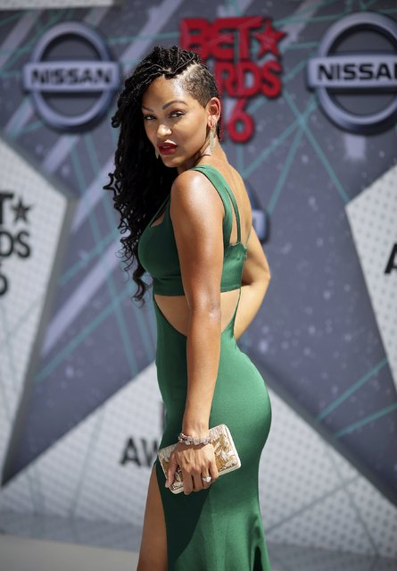 Actress Meagan Goode arrives at the 2016 BET Awards in Los Angeles, California U.S. June 26, 2016. (Photo by David McNew/Reuters)
