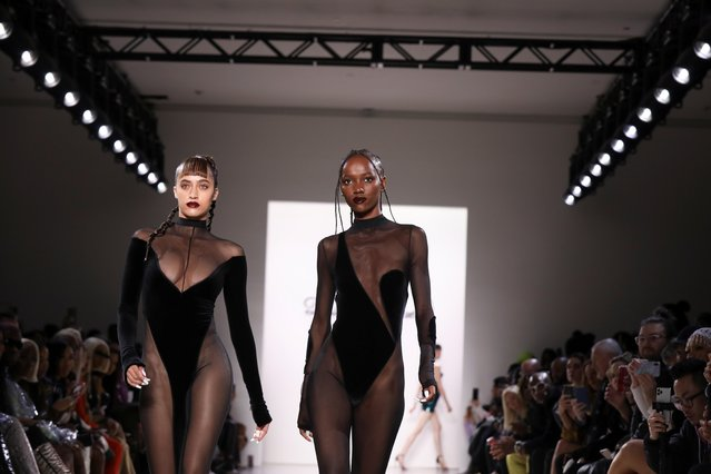 Models present creations from the LaQuan Smith Fall/Winter 2020 collection during New York Fashion Week in the Manhattan borough of New York, U.S., February 8, 2020. (Photo by Caitlin Ochs/Reuters)