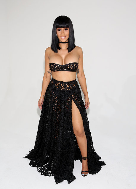 Cardi B attends Laquan Smith Presentation September 2016 during New York Fashion Week on September 14, 2016 in New York City. (Photo by Robin Marchant/Getty Images)