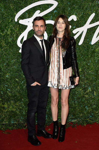 Nicolas Ghesquiere and Charlotte Gainsbourg attend the British Fashion Awards at London Coliseum on December 1, 2014 in London, England. (Photo by Pascal Le Segretain/Getty Images)