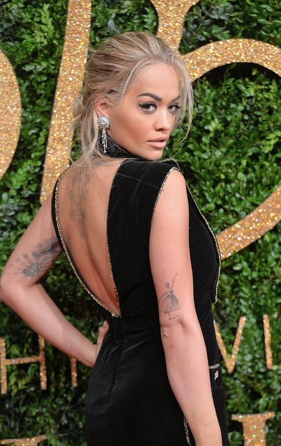 Rita Ora attends the British Fashion Awards 2015 at London Coliseum on November 23, 2015 in London, England. (Photo by Anthony Harvey/Getty Images)