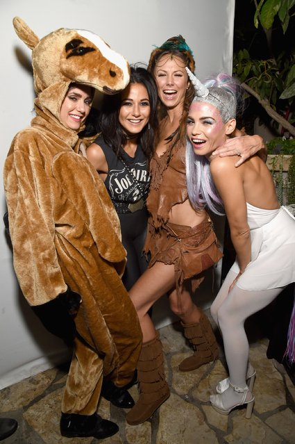 Actresses Stacy Keibler, Emmanuelle Chriqui and Jenna Dewan Tatum attend the Casamigos Halloween Party at a private residence on October 28, 2016 in Beverly Hills, California. (Photo by Michael Kovac/Getty Images for Casamigos Tequila)