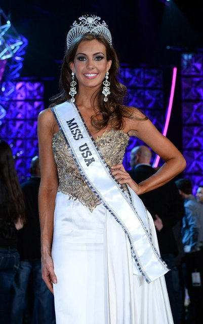 Miss Connecticut USA Erin Brady poses on stage after winning the 2013 Miss USA pageant at PH Live at Planet Hollywood Resort & Casino on June 16, 2013 in Las Vegas, Nevada.  (Photo by Ethan Miller)