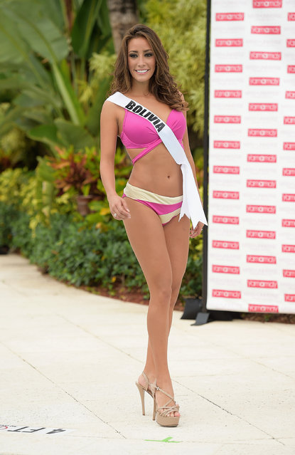 Miss Bolivia  Claudia Tavel  participates in Miss Universe – Yamamay Swimsuit Runway Show at Trump National Doral on January 14, 2015 in Doral, Florida. (Photo by Gustavo Caballero/Getty Images)