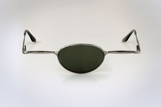 """Sunglasses for the """"center"""" eye. (Photo by Giuseppe Colarusso/Caters News)"""
