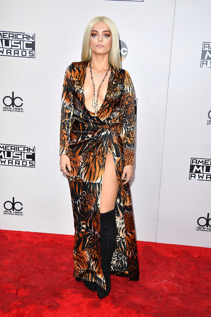 Singer Bebe Rexha attends the 2016 American Music Awards at Microsoft Theater on November 20, 2016 in Los Angeles, California. (Photo by Kevin Mazur/AMA2016/WireImage)