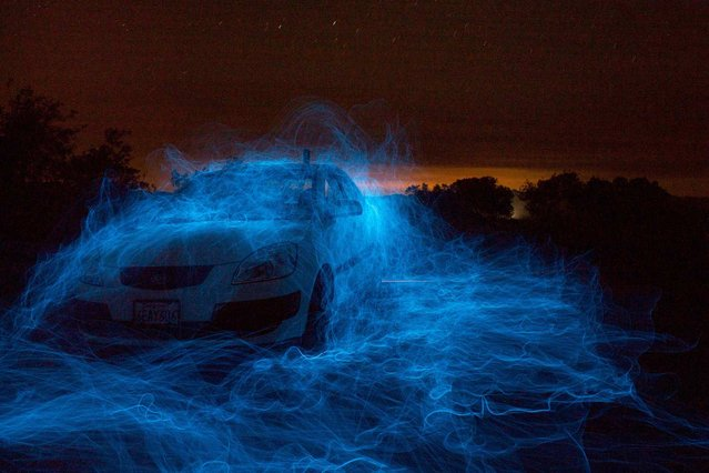 Back in September, we challenged the online Your Shot community with a question: What does the night mean to you? By way of an answer, we received 8,520 reader-submitted photos. Our editors selected 35 to publish, including this one – Randy Miller's minute-long exposure of a car illuminated by blue electroluminescent wire, with the lights of the Milky Way glinting overhead. (Photo by Randy Miller/National Geographic)