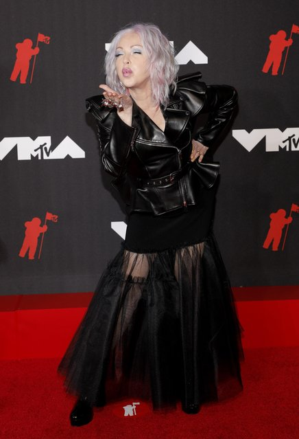 American singer Cyndi Lauper attends the 2021 MTV Video Music Awards at Barclays Center on September 12, 2021 in the Brooklyn borough of New York City. (Photo by Andrew Kelly/Reuters)