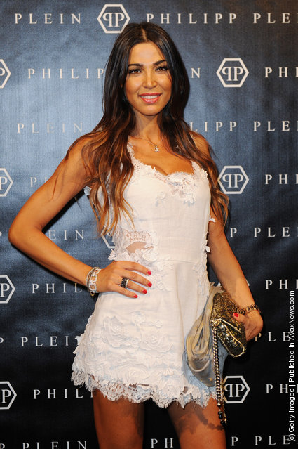 Alessandra Grillo attends the Philipp Plein Urban Jungle Spring/Summer 2012 fashion show as part Milan Womenswear Fashion Week