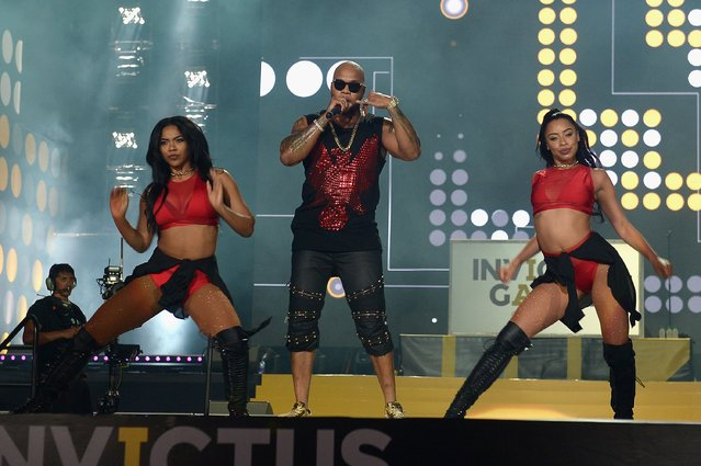 Flo Rida performs onstage during the Invictus Games Orlando 2016 – Closing Ceremony at ESPN Wide World of Sports Complex on May 12, 2016 in Lake Buena Vista, Florida. (Photo by Gustavo Caballero/Getty Images for Invictus Games)