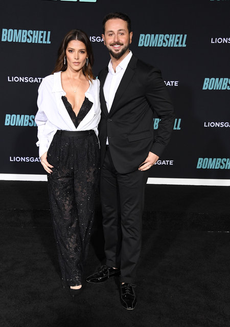 """Ashley Greene and Paul Khoury  arrives at the Special Screening Of Liongate's """"Bombshell"""" at Regency Village Theatre on December 10, 2019 in Westwood, California. (Photo by Steve Granitz/WireImage)"""